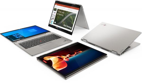 Толщина ноутбука Lenovo ThinkPad X1 Titanium Yoga составляет менее 12 мм