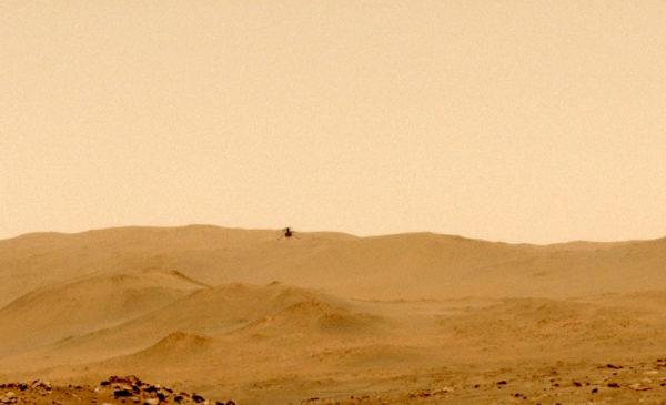 Марсианский вертолёт Ingenuity впервые совершил полёт в один конец